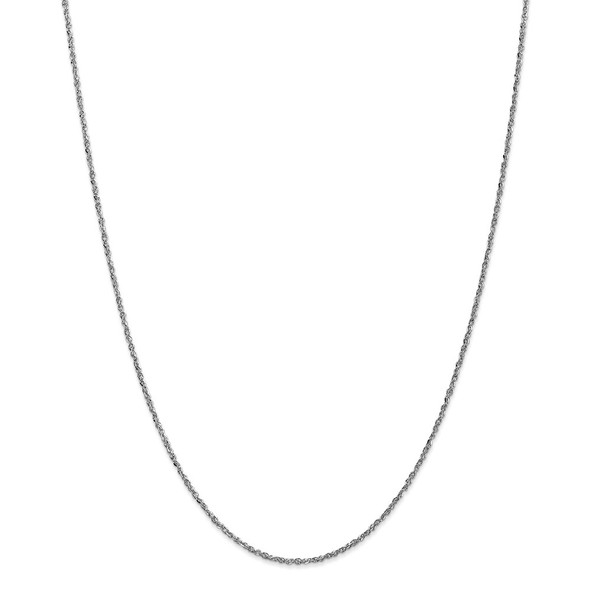 "22"" 14k White Gold 1.7mm Ropa Chain Necklace"