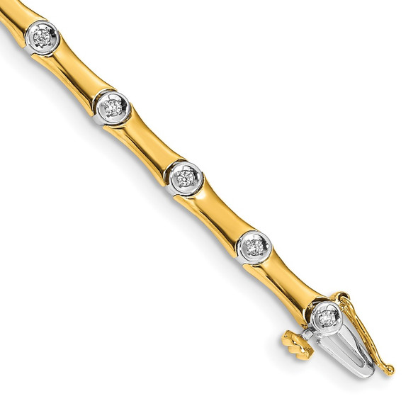14k Two-tone Gold Diamond Bracelet BM4614-025-YWA