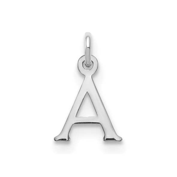 14k White Gold Cutout Letter A Initial Charm