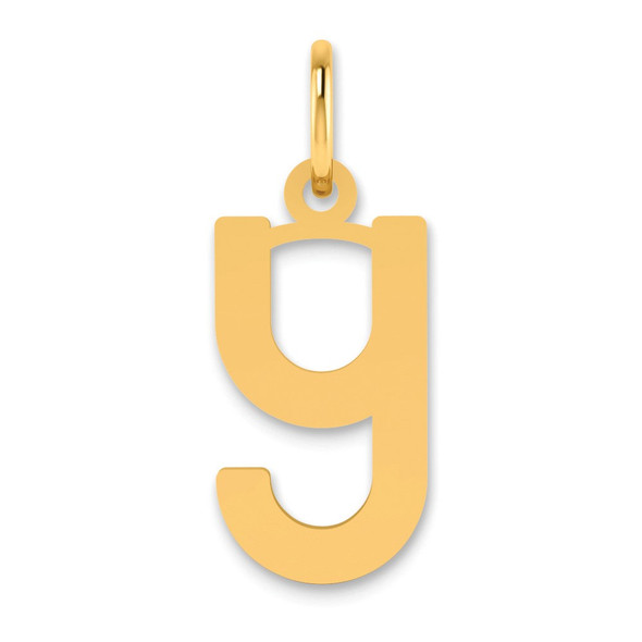 14k Yellow Gold Lowercase Letter Y Initial Charm XNA1384Y/Y