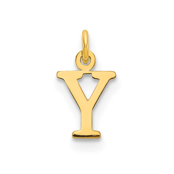 14k Yellow Gold Cutout Letter Y Initial Charm
