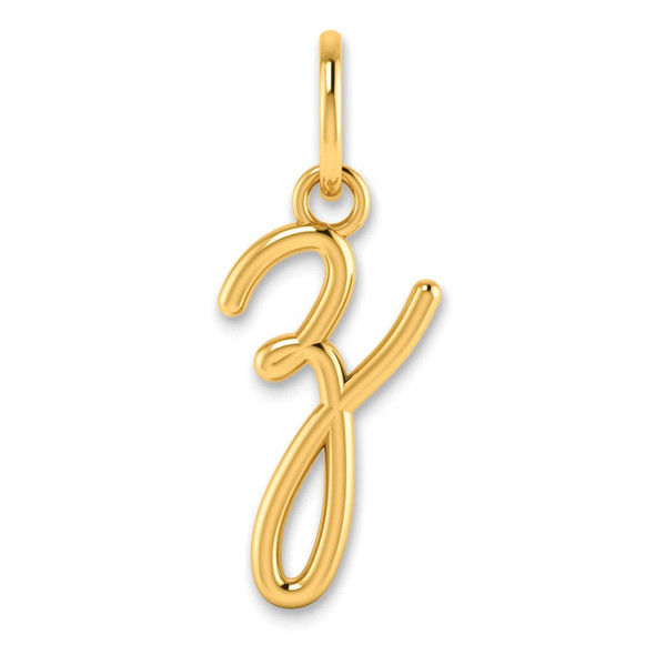 14k Yellow Gold Lower Case Letter Z Initial Charm XNA1307Y/Z