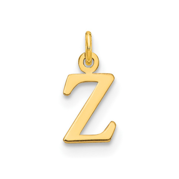 14k Yellow Gold Cutout Letter Z Initial Charm