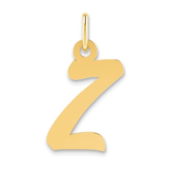 14k Yellow Gold Small Script Initial Z Charm