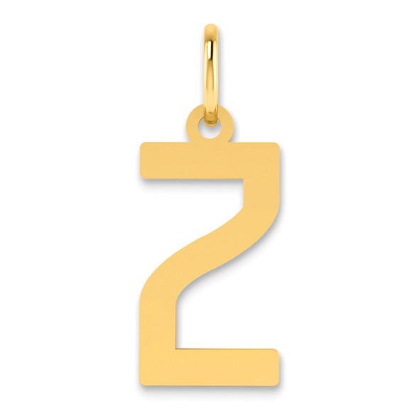 14k Yellow Gold Letter Z Initial Charm XNA1336Y/Z