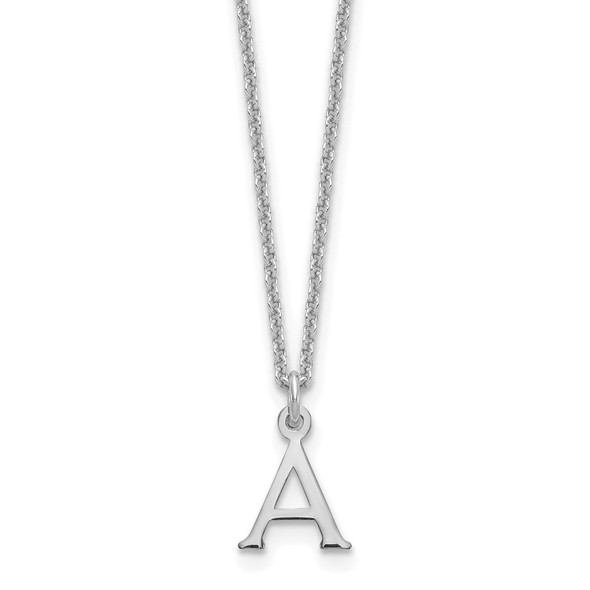 14k White Gold Cutout Letter A Initial Necklace