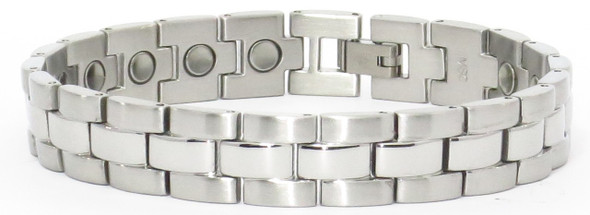 Elegance - Silver-Plated Stainless Steel magnetic bracelet