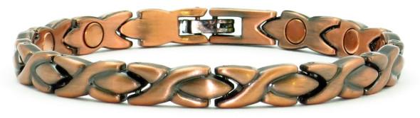 Copper XOXO Magnetic Bracelet