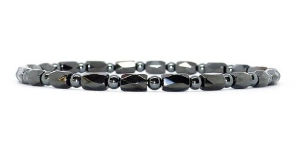 Extra Strength Hematite Round Faceted - Magnetic Therapy Bracelet or Anklet