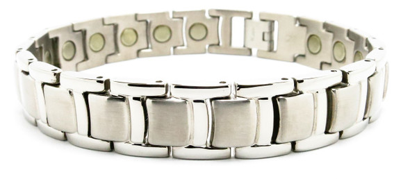 Silver Towers - Silver-Plated  Titanium Magnetic  Bracelet