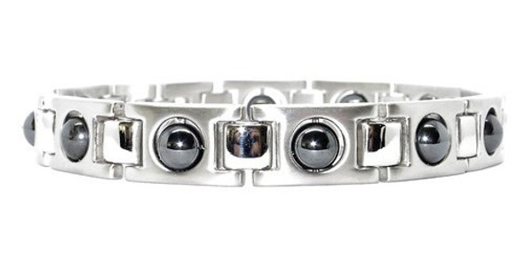 Hematite Silver Classic - Stainless Steel Magnetic Bracelet