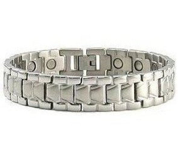 Silver Falls - silver-plated Stainless Steel magnetic bracelet