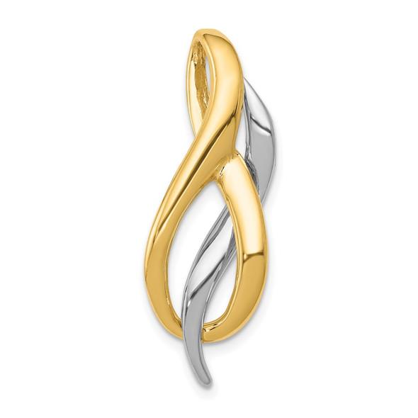 14K Two-tone Gold Slide Pendant SL582