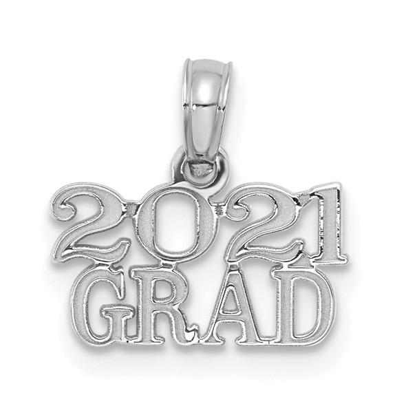 14k White Gold 2021 GRAD Pendant