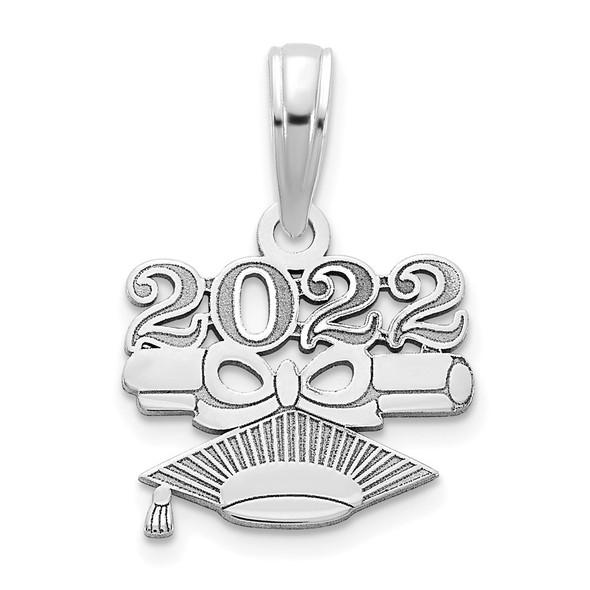 14k White Gold 2022-DIPLOMA and GRADUATION CAP Pendant