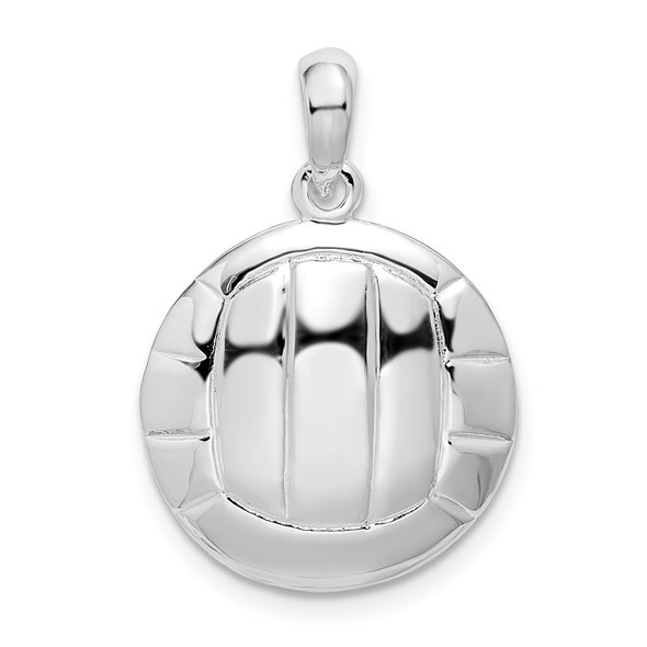Sterling Silver Polished Volleyball Pendant QC10596