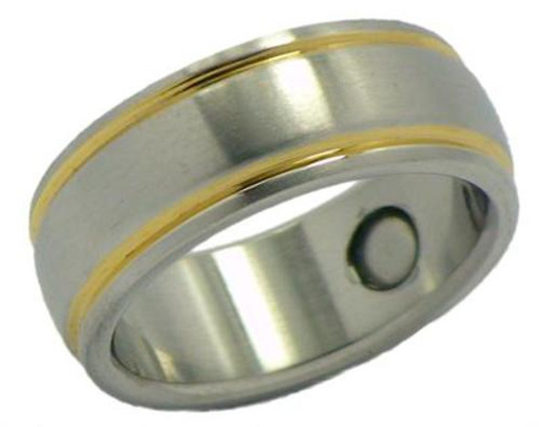Stainless Steel Magnetic Therapy Ring (WSR12)