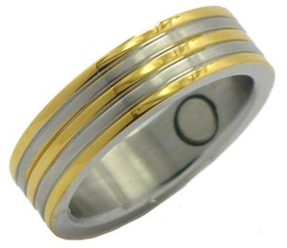Stainless Steel Magnetic Therapy Ring (WSR7)