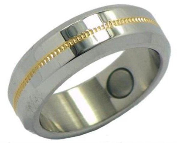 Stainless Steel Magnetic Therapy Ring (WSRQ3)