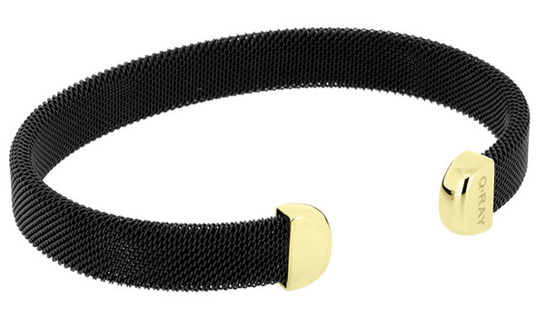 Q Ray Bracelet - Midnight Series Black and Gold Plated Bracelet