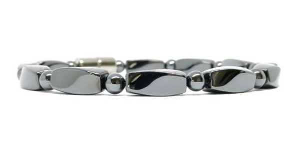Hematite Small Twist with Clasp - magnetic bracelet