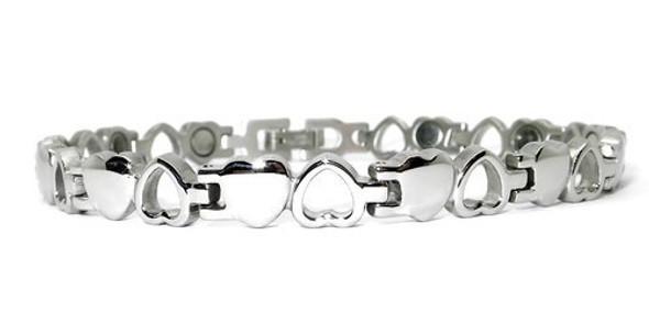 Opposites -  Silver-Plated  Magnetic    Bracelet