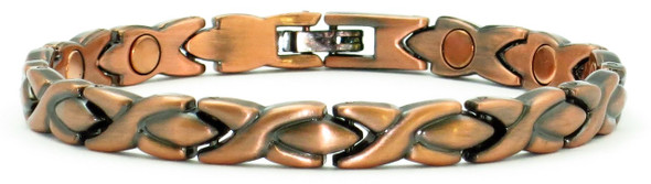 Copper XOXO Magnetic   Anklet