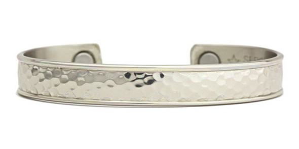Sergio Lub Hammered  -  Magnetic Therapy Bracelet - Made in USA!