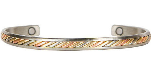 Sergio Lub Silver Maya - Copper Magnetic Therapy Bracelet - Made in USA!