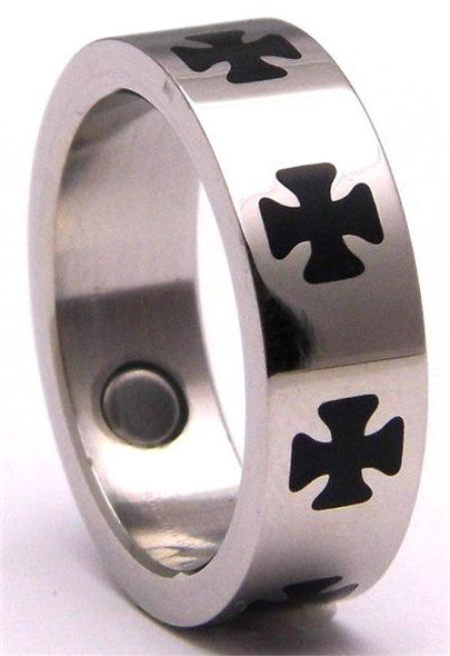 Stainless Steel Magnetic Therapy Ring  USR004