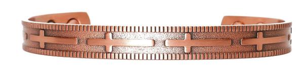 Crosses - Solid Copper Magnetic   Cuff Bracelet