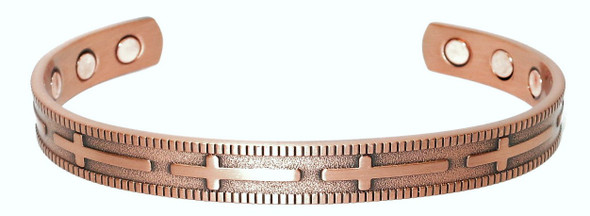 Crosses - Solid Copper Magnetic Therapy Cuff Bracelet