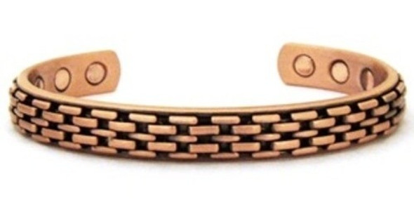 Bricks Magnetic Copper Cuff Bracelet