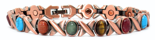 Copper Color XOXO - Magnetic Therapy Bracelet