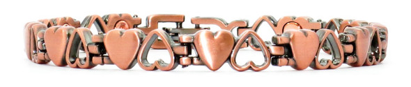Two Hearts Copper Magnetic Bracelet