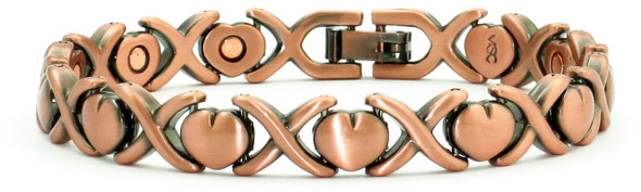 Dainty Hearts - Copper Magnetic Bracelet