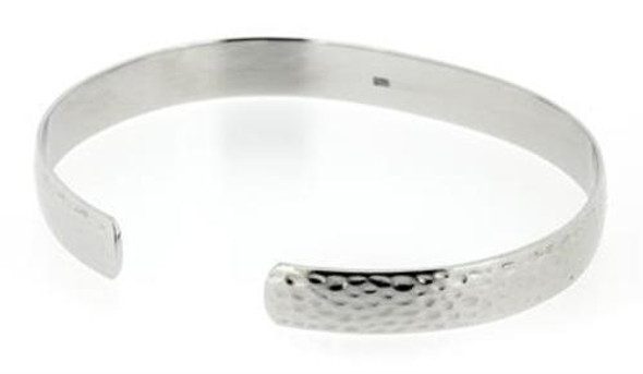 Q Ray  Hammered 925 Sterling Silver