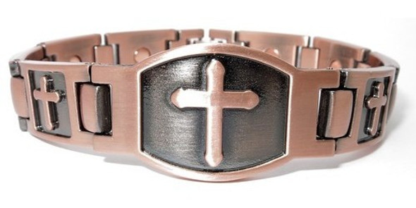 Cross - Copper magnetic bracelet