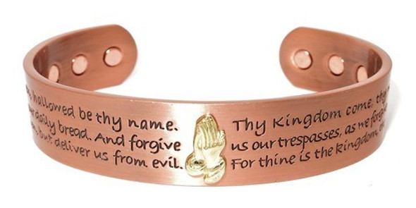 Lord's Prayer Solid Copper magnetic bracelet