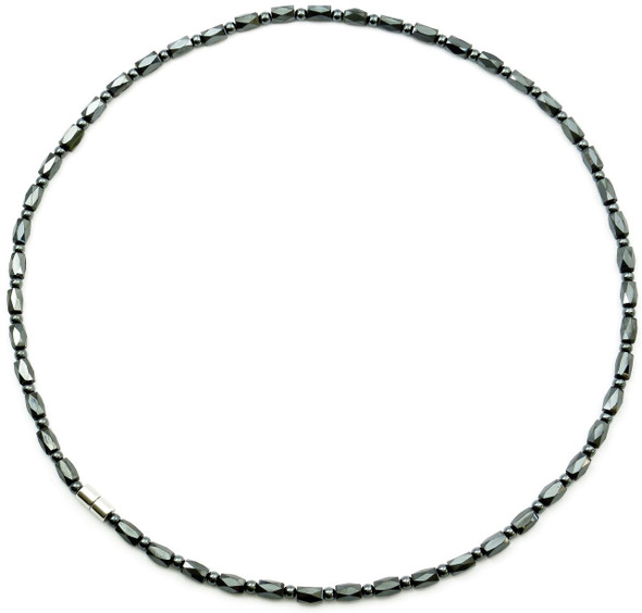 Hematite Faceted Set - Magnetic Therapy Necklace & Bracelet Set