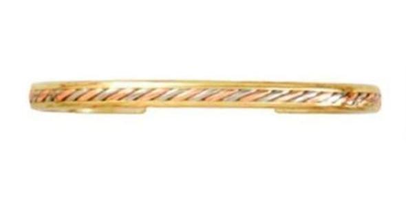 Sergio Lub Mayan Dome Handmade Solid Copper Cuff Bracelet