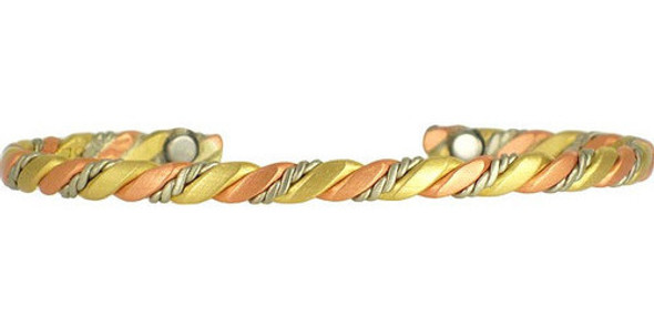 Sergio Lub Nepal Brushed Copper Magnetic Therapy Bracelet - Made in USA!