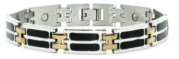 Double Black Enamel - Stainless Steel magnetic bracelet