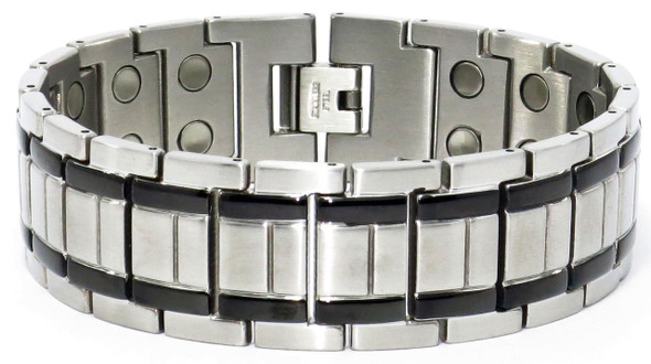 Gladiator (two 5,000 gauss magnets per link) - Stainless Steel magnetic bracelet