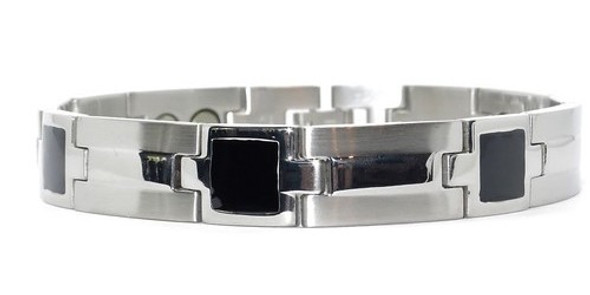 Constellation (two 5,000 gauss magnets per link) - Stainless Steel magnetic bracelet