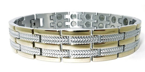 Dynamic - Gold-plated Stainless Steel Magnetic Therapy Bracelet
