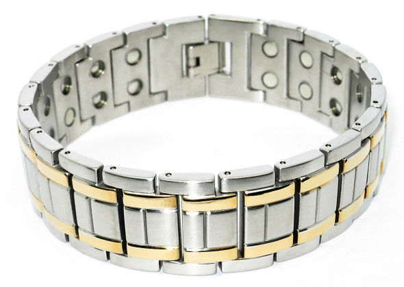 Tranquility - Stainless Steel Magnetic Bracelet With Two 5,000 Gauss Magnets Per Link