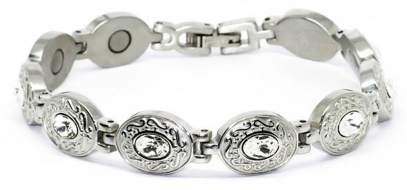 Snow White -  Stainless  Steel Magnetic    Bracelet