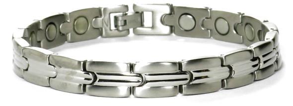 Mindful - Silver-plated Titanium magnetic bracelet