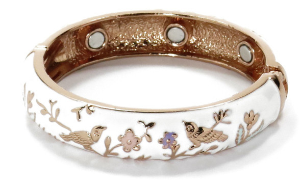 Birds in Paradise - Copper magnetic bracelet